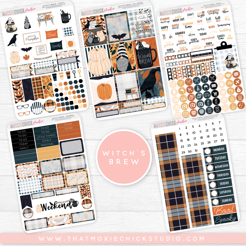 WITCH'S BREW // 5 LARGE SHEETS // NEW RELEASE - That Moxie Chick Studio