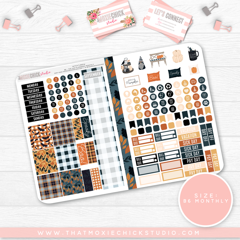 WITCH'S BREW B6 'MONTHLY' FOLDABLE // CHOOSE YOUR OWN MONTH - That Moxie Chick Studio
