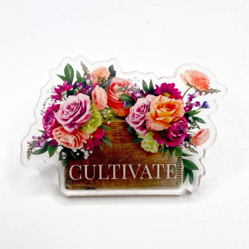 CULTIVATE ACRYLIC PINS // NEW RELEASE