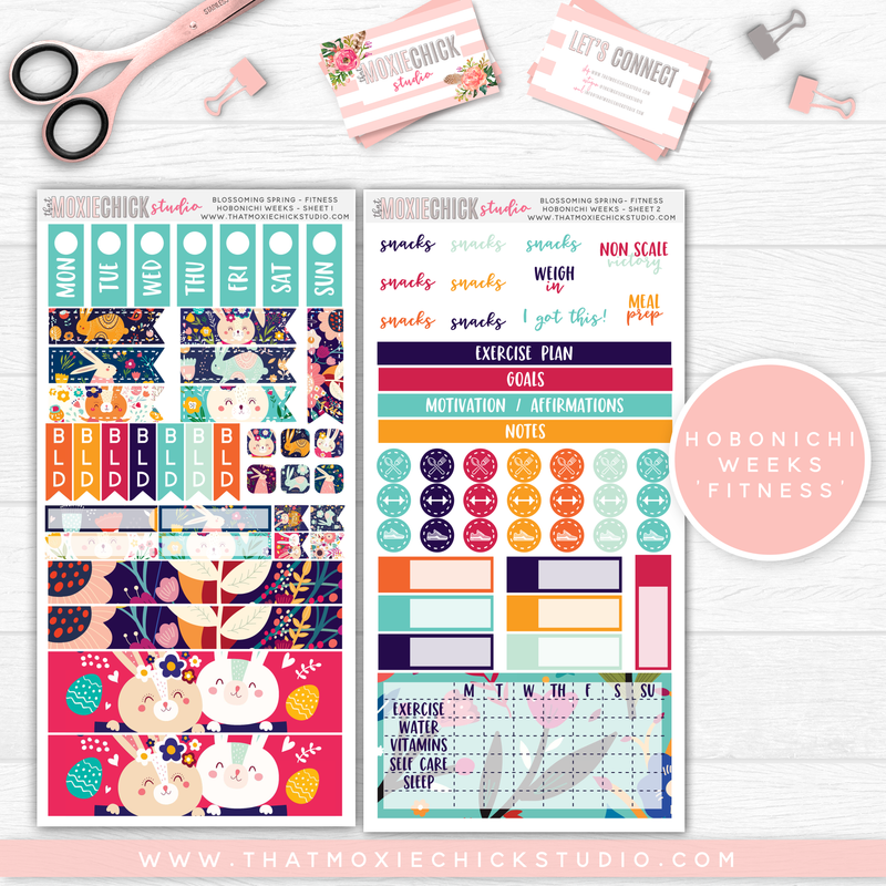 "HOBONICHI WEEKS ""FITNESS"" // BLOSSOMING SPRING // NEW RELEASE - That Moxie Chick Studio"