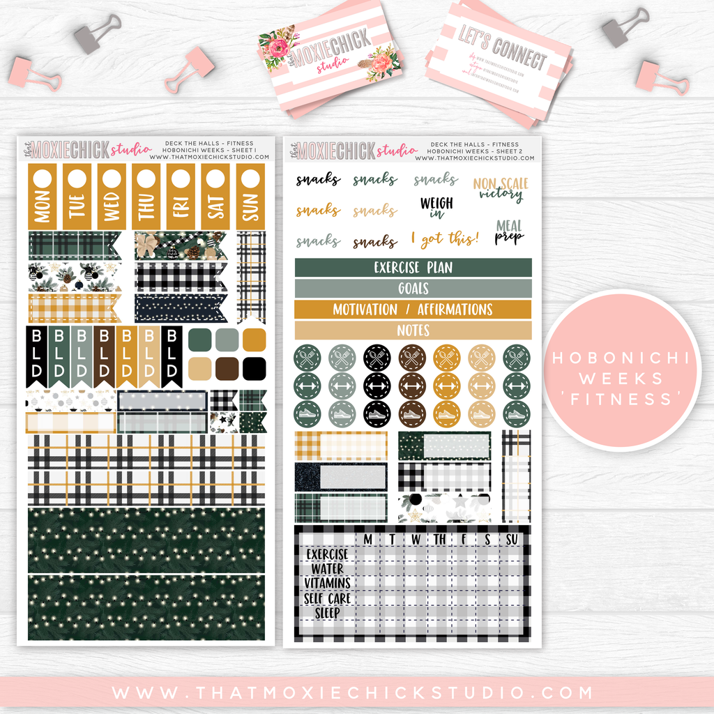 "HOBONICHI WEEKS ""FITNESS"" // DECK THE HALS // NEW RELEASE - That Moxie Chick Studio"