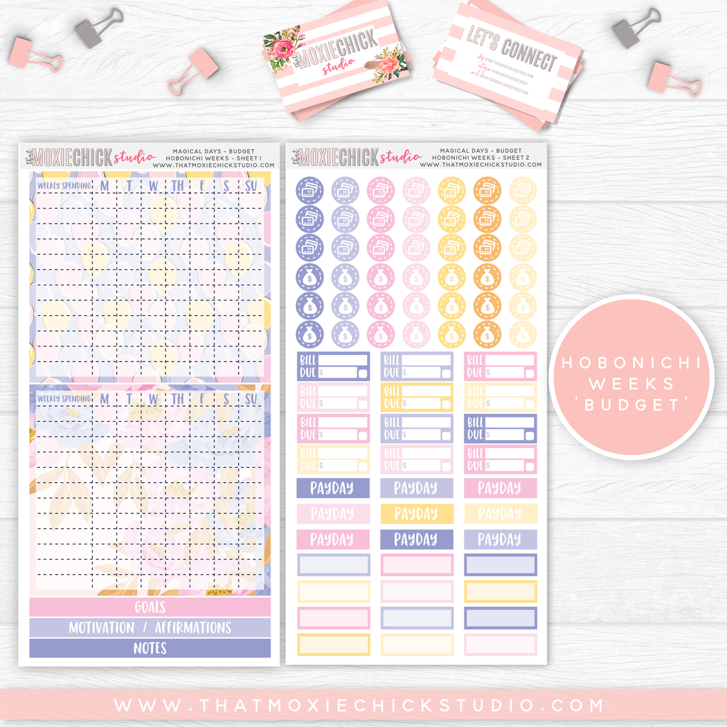 "HOBONICHI WEEKS ""BUDGET"" // MAGICAL DAYS // NEW RELEASE - That Moxie Chick Studio"
