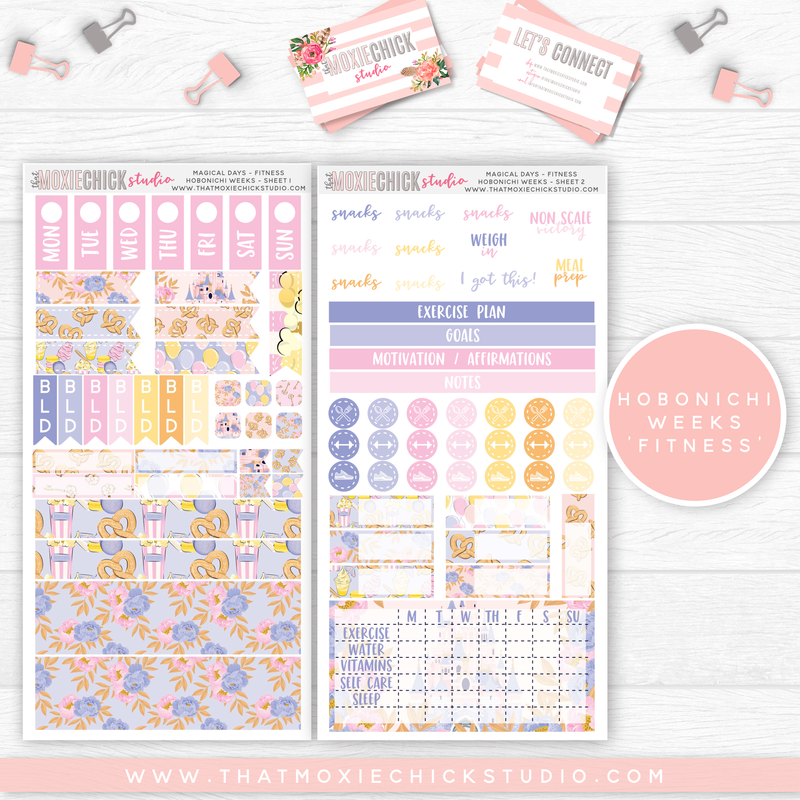 "HOBONICHI WEEKS ""FITNESS"" // MAGICAL DAYS // NEW RELEASE - That Moxie Chick Studio"