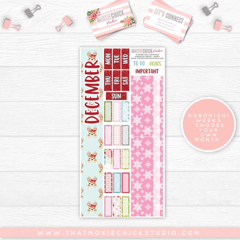 HOBONICHI WEEKS // MONTH - PLANNER GIRL CHRISTMAS - That Moxie Chick Studio
