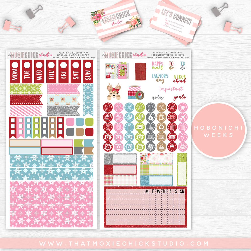 HOBONICHI WEEKS // PLANNER GIRL CHRISTMAS MAIN SHEETS // NEW RELEASE