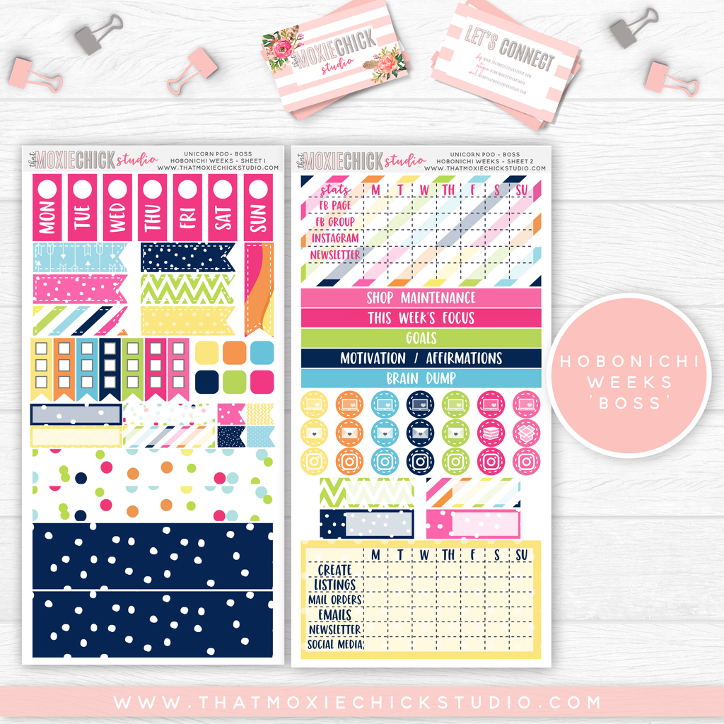 "HOBONICHI WEEKS ""BOSS"" // UNICORN POOP // NEW RELEASE - That Moxie Chick Studio"