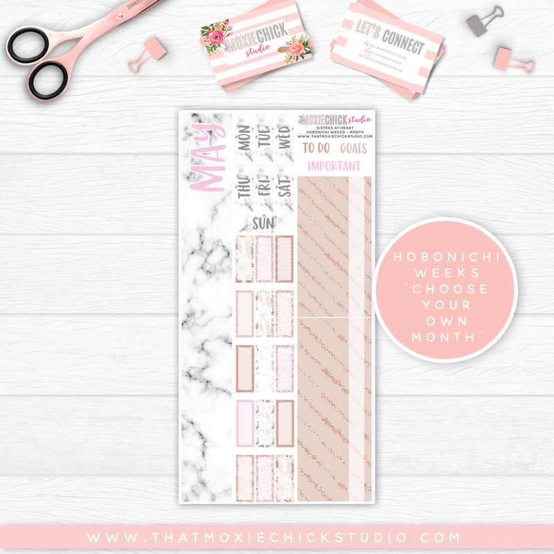 HOBONICHI WEEKS // MONTH - SISTERS AT HEART // NEW RELEASE - That Moxie Chick Studio