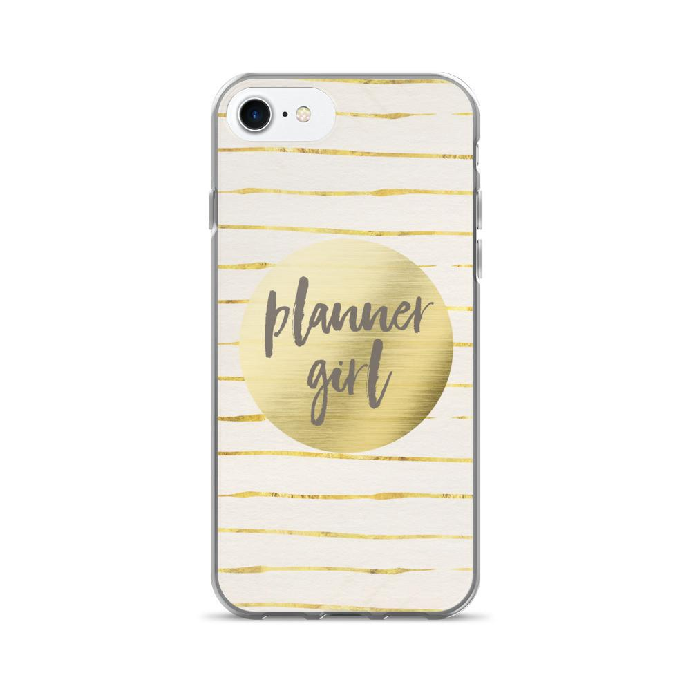 Gold 'Planner Girl' iPhone case [Style #2] iPhone 7/7 Plus Case - That Moxie Chick Studio