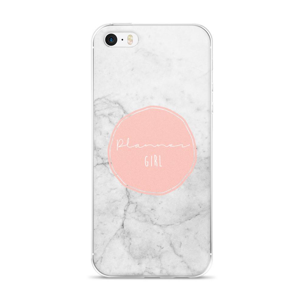 Marble 'Planner girl' iPhone case 5/5s/Se, 6/6s, 6/6s Plus Case - That Moxie Chick Studio