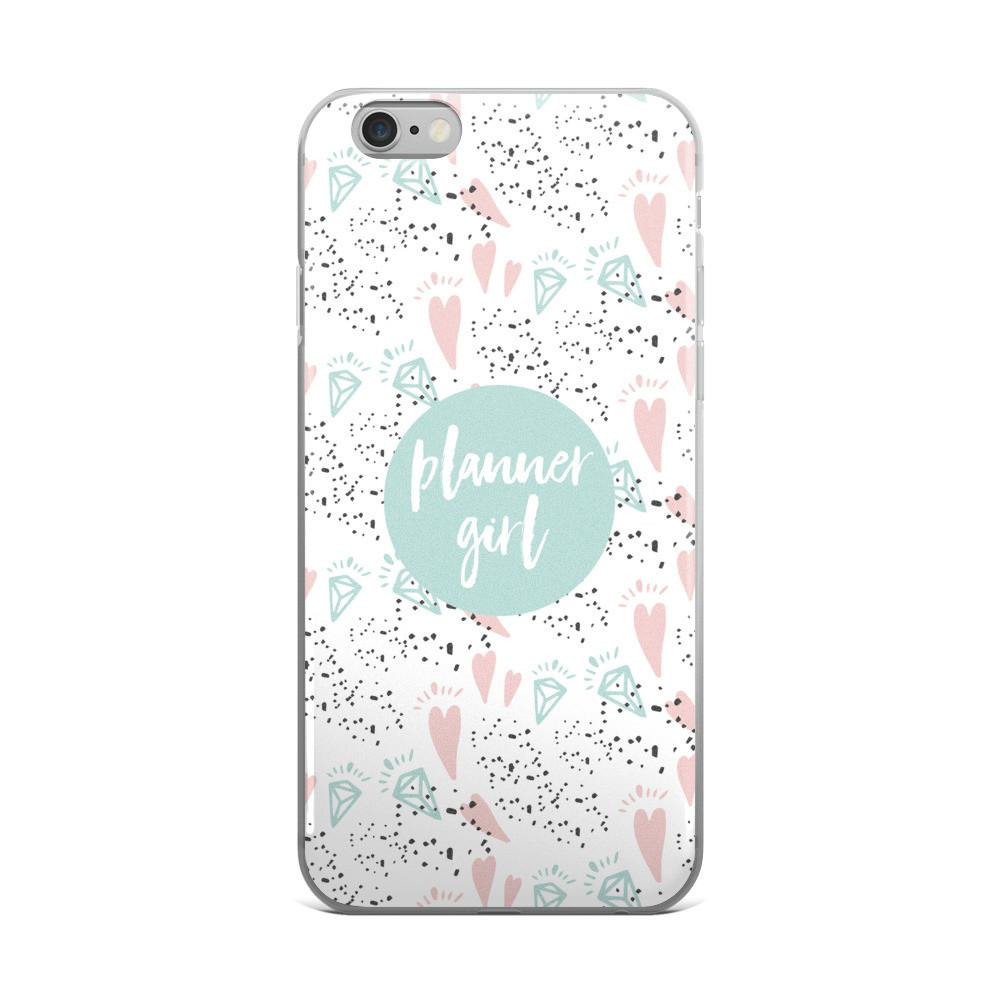 Planner Minty / 'Hearts and Diamond' iPhone 5/5s/Se, 6/6s, 6/6s Plus Case - That Moxie Chick Studio