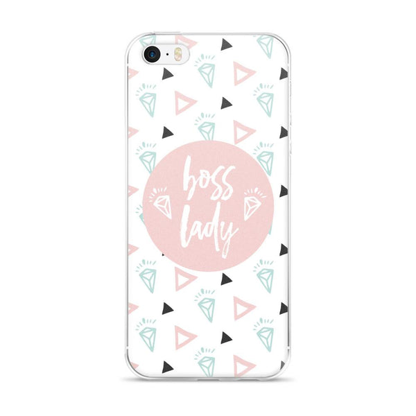Boss Lady Pink / 'Diamond' iPhone 5/5s/Se, 6/6s, 6/6s Plus Case - That Moxie Chick Studio