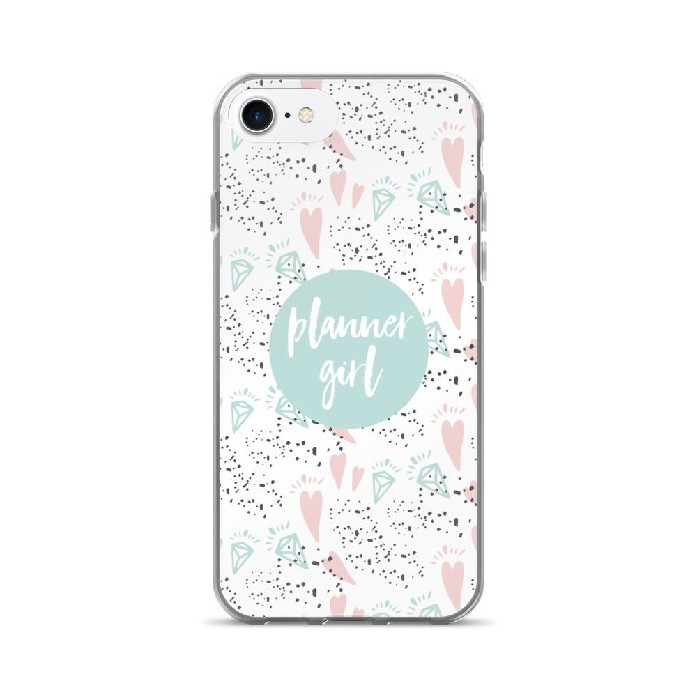 Planner Minty / 'Hearts and Diamond' iPhone 7/7 Plus Case - That Moxie Chick Studio