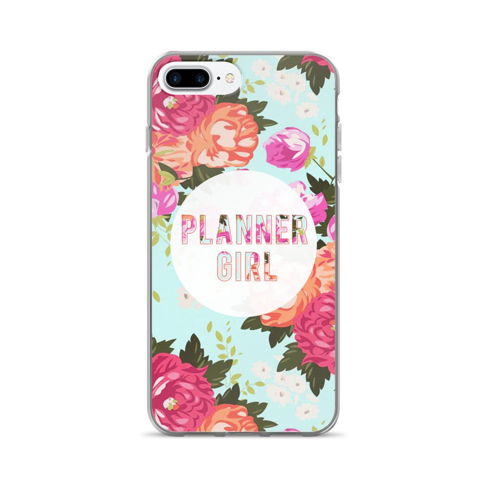 Floral 'Planner Girl' iPhone 7/7 Plus Case - That Moxie Chick Studio
