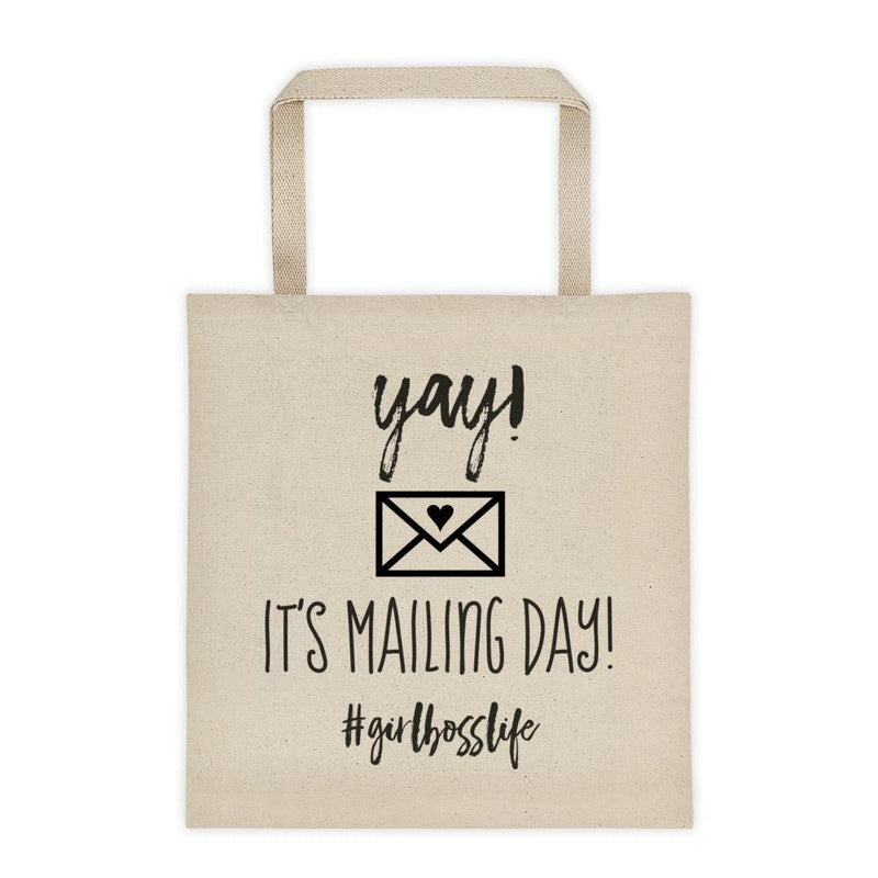 'Canvas 'Mailing Day' Tote bag #Girlbosslife - That Moxie Chick Studio