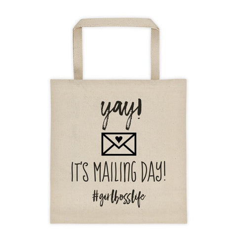 'Canvas 'Mailing Day' Tote bag #Girlbosslife // New Release - That Moxie Chick Studio