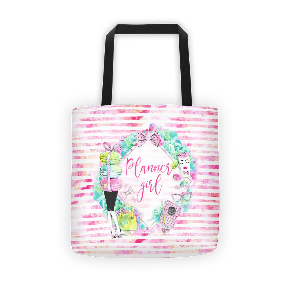 'Stylish Planner Girl' Tote bag - That Moxie Chick Studio