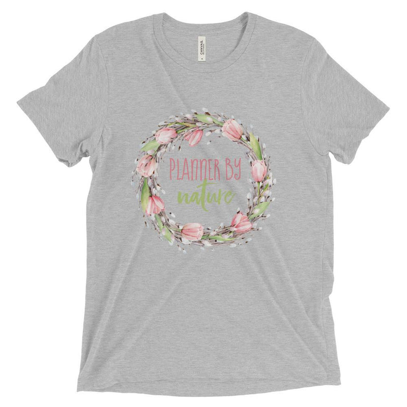 'New Release! Planner By Nature Wreath Tri-Blend Unisex Short sleeve t-shirt - That Moxie Chick Studio