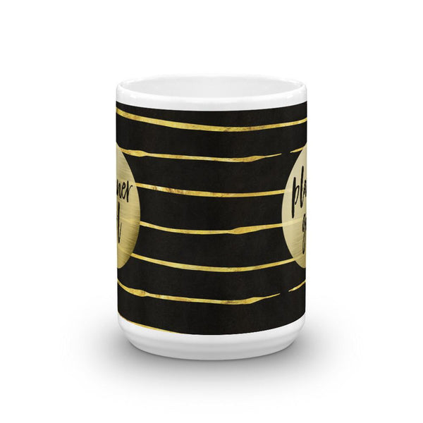 Black and Gold 'Planner Girl' Mug - That Moxie Chick Studio
