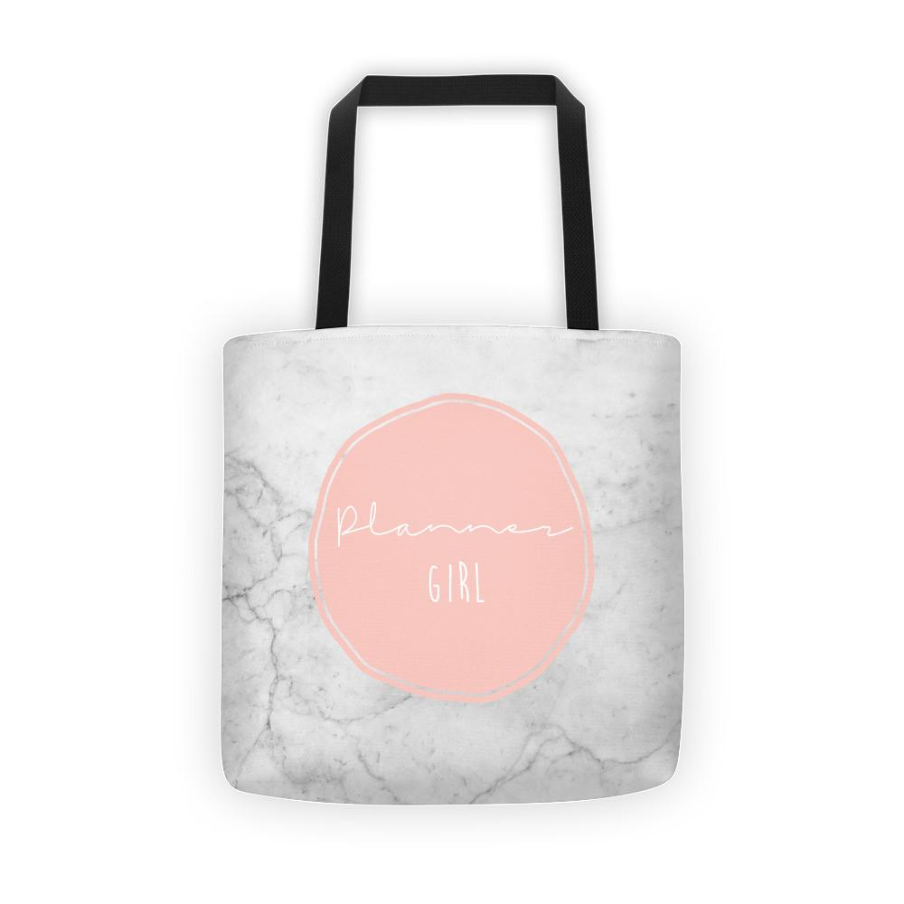 Marble 'Planner Girl' Tote bag - That Moxie Chick Studio