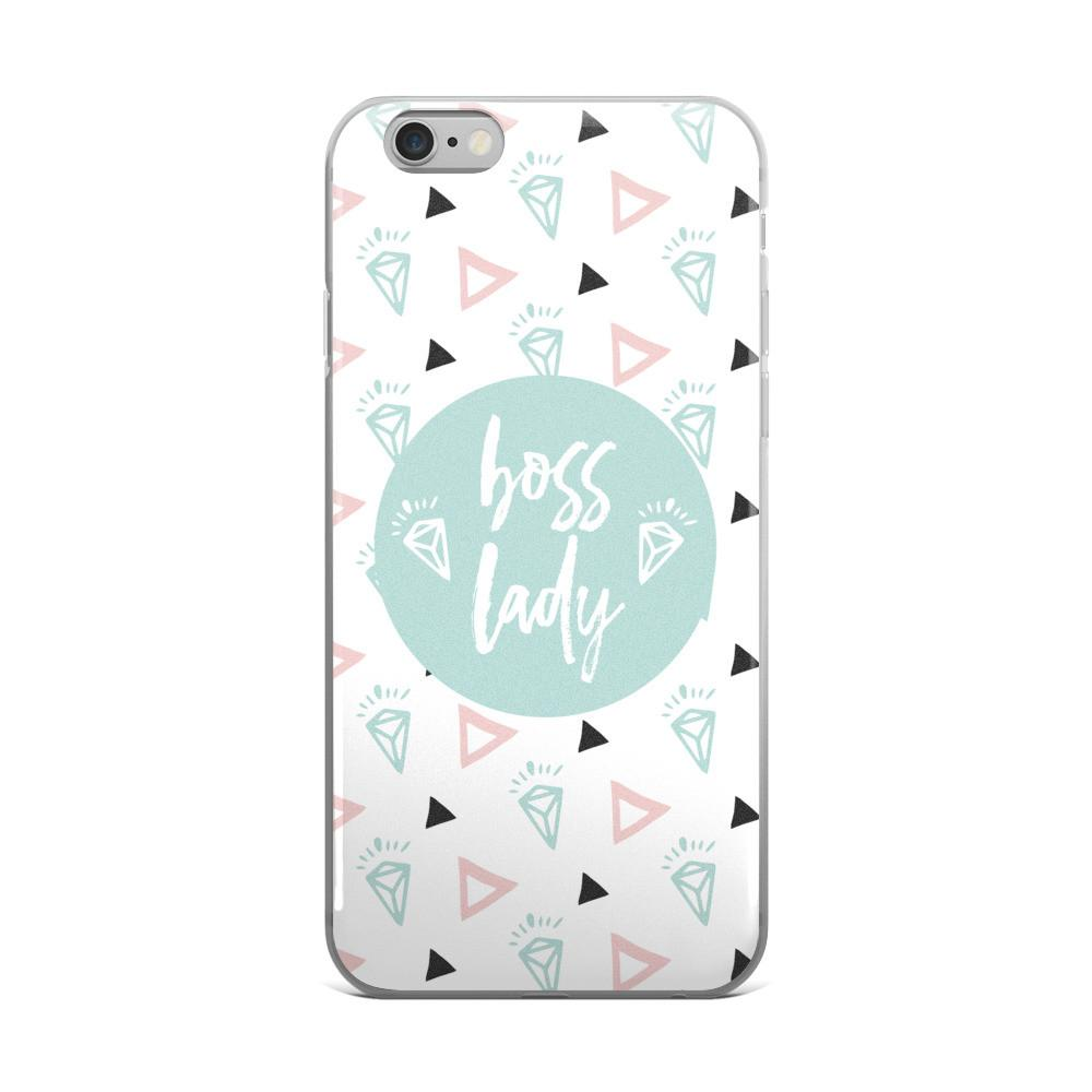 Boss Lady Mint / 'Diamond' iPhone 5/5s/Se, 6/6s, 6/6s Plus Case - That Moxie Chick Studio