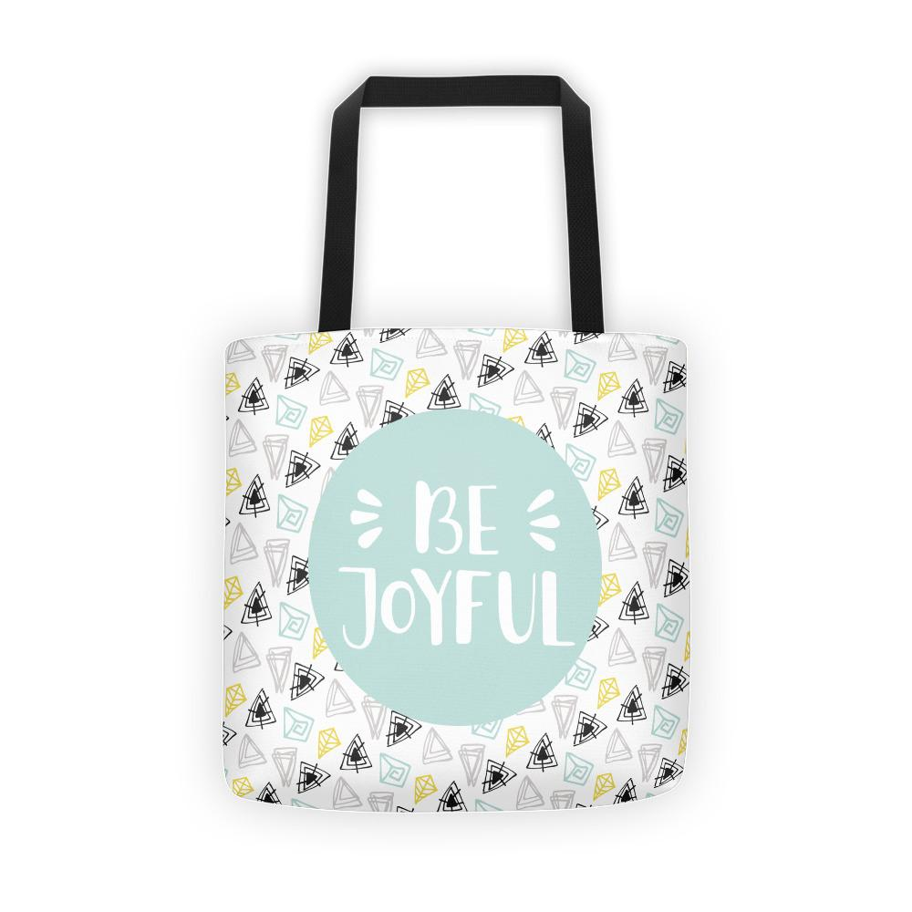 Be Joyful 'Scribbles' Tote bag // Mint - That Moxie Chick Studio