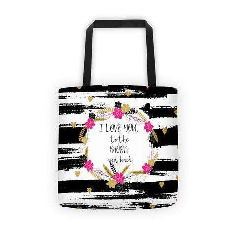 'I love you to the moon and back' Tote bag - That Moxie Chick Studio