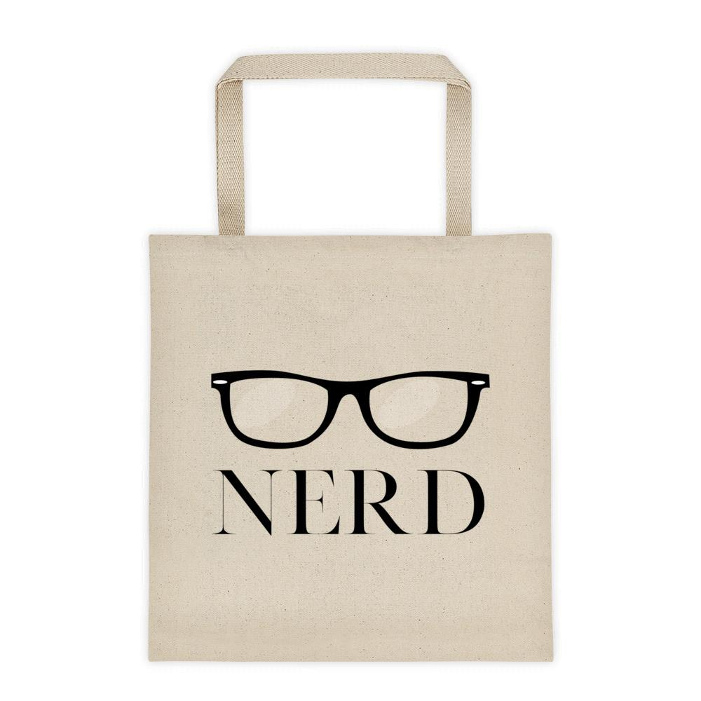 Canvas 'Nerd with eyeglasses' tote bag - That Moxie Chick Studio