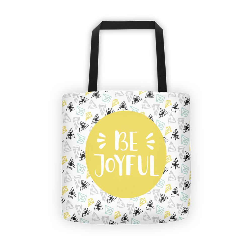 Be Joyful 'Scribbles' Tote bag // Yellow - That Moxie Chick Studio