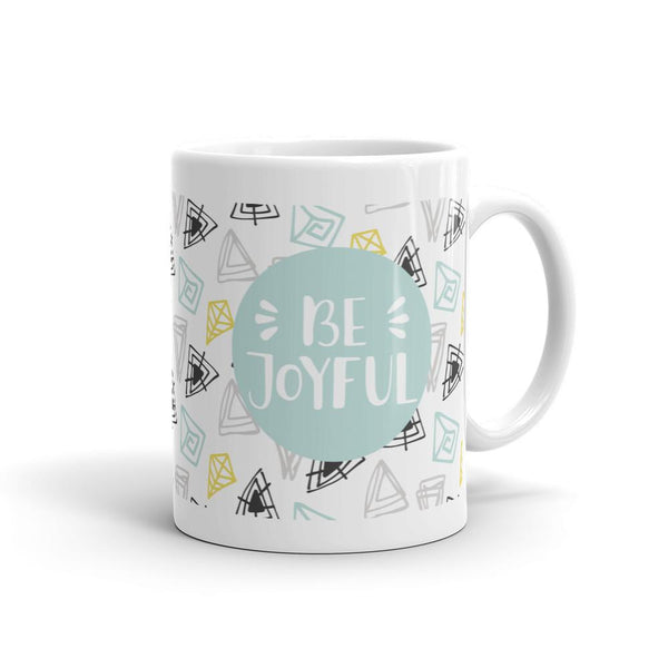 Be Joyful 'Scribbles' Mug // Minty - That Moxie Chick Studio