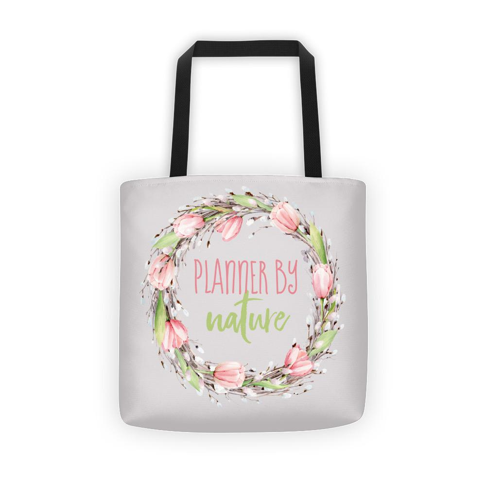 'New Release! Planner By Nature Wreath Tote bag - That Moxie Chick Studio