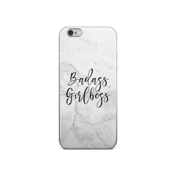 Badass Girlboss 'Marble' iPhone case 5/5s/Se, 6/6s, 6/6s Plus Case - That Moxie Chick Studio