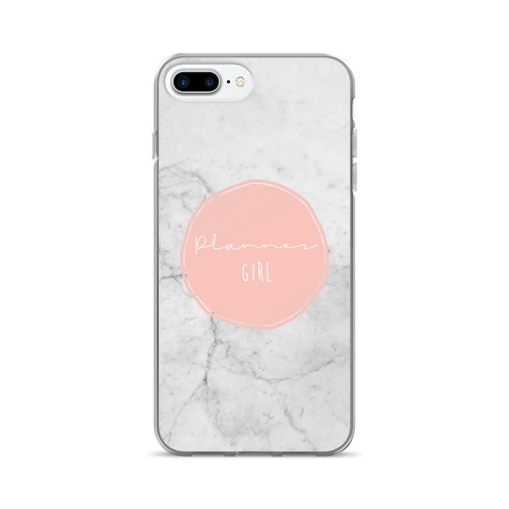 Marble 'Planner girl' iPhone 7/7 Plus Case - That Moxie Chick Studio