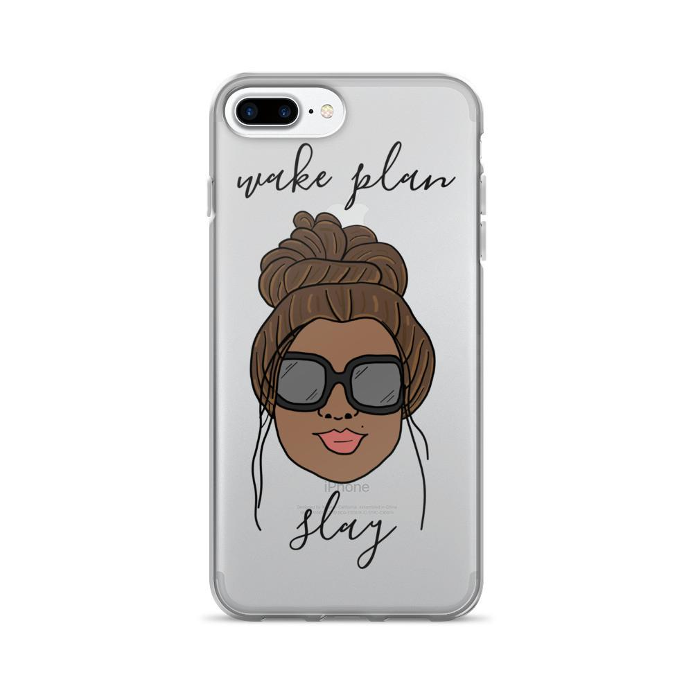 'Foxy Moxie Chick' / Style 2 / Wake Plan Slay / iPhone 7/7 Plus Case - That Moxie Chick Studio