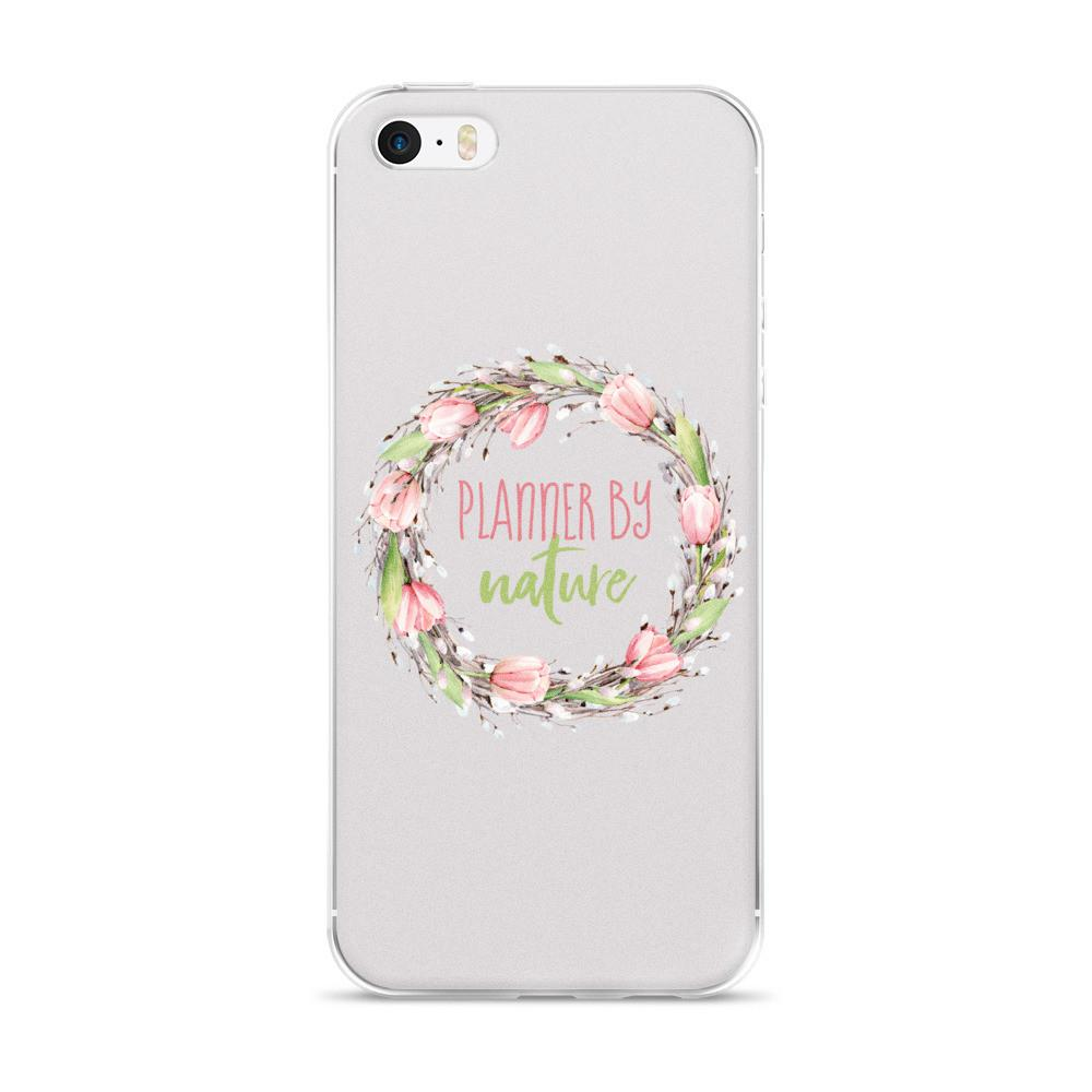 'New Release! Planner By Nature Wreath iPhone 5/5s/Se, 6/6s, 6/6s Plus Case - That Moxie Chick Studio