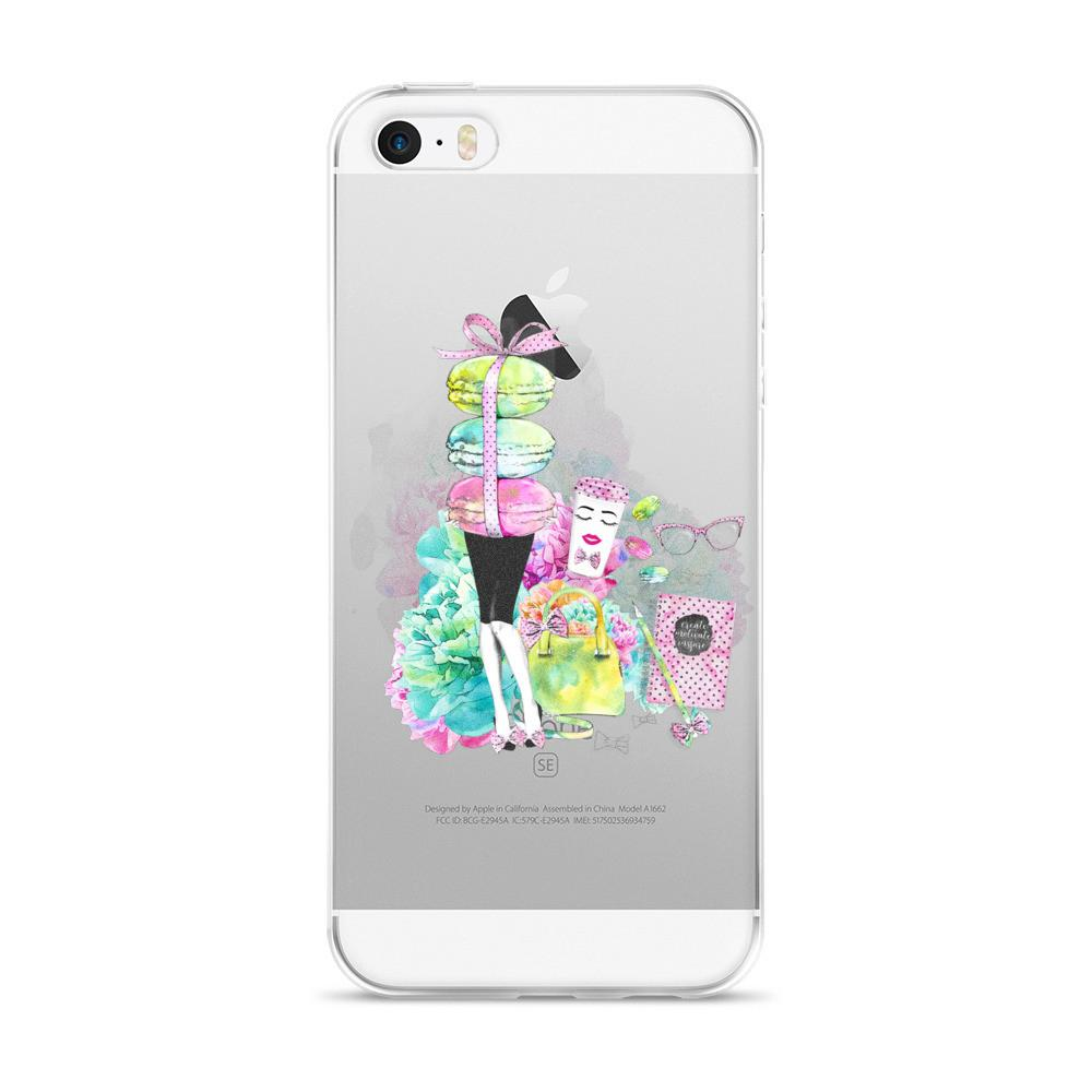 Stylish Girl (white background) iPhone 5/5s/Se, 6/6s, 6/6s Plus Case - That Moxie Chick Studio