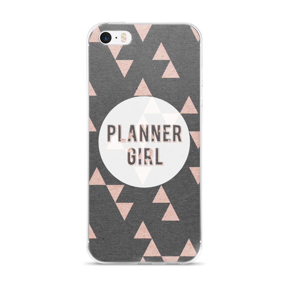 Rose Gold Triangle 'Planner Girl' iPhone case 5/5s/Se, 6/6s, 6/6s Plus Case - That Moxie Chick Studio