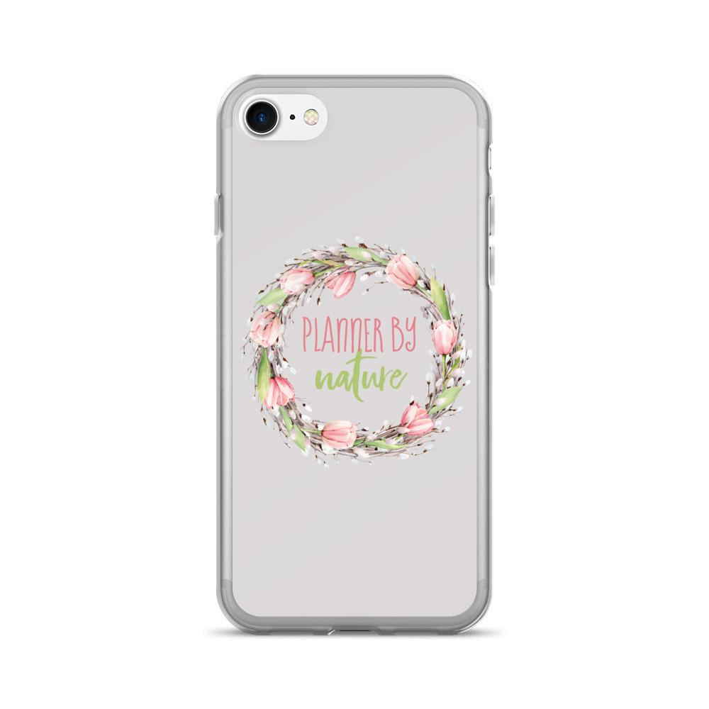 'New Release! Planner By Nature Wreath iPhone 7/7 Plus Case - That Moxie Chick Studio