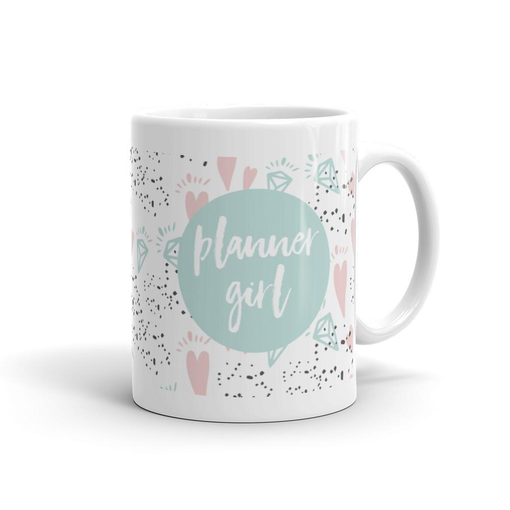 Planner Girl Minty / 'Hearts and Diamond' Mug - That Moxie Chick Studio