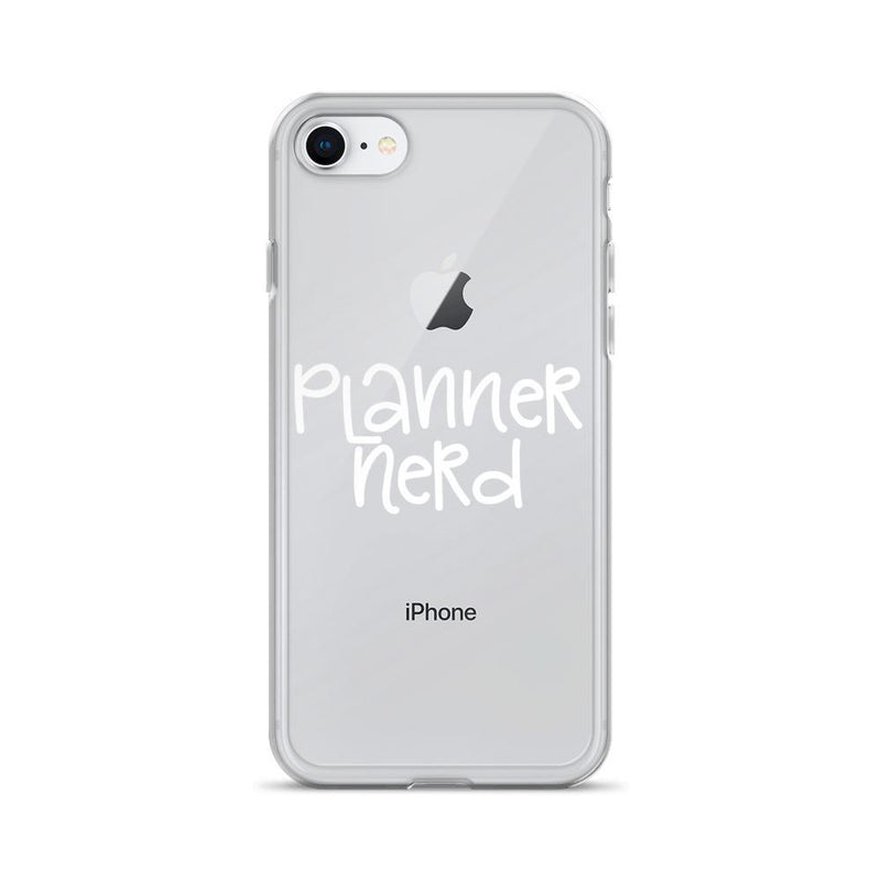 "Planner Nerd ""White Wording"" iPhone Case // New Release"