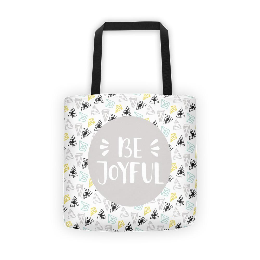 Be Joyful 'Scribbles' Tote bag // Light Gray - That Moxie Chick Studio