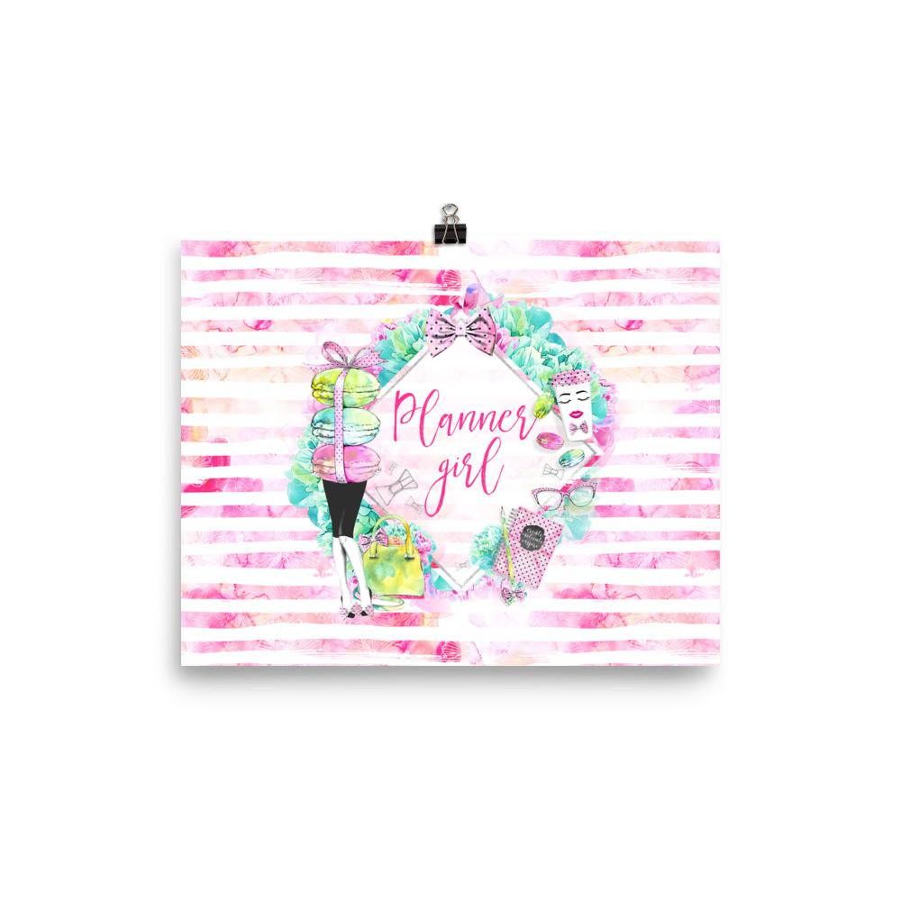 'Stylish Planner Girl' Photo paper poster - That Moxie Chick Studio