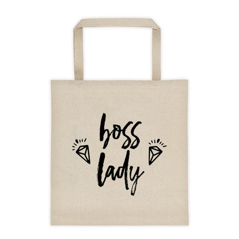 Canvas 'Boss Lady with Diamonds' Tote bag // New Release