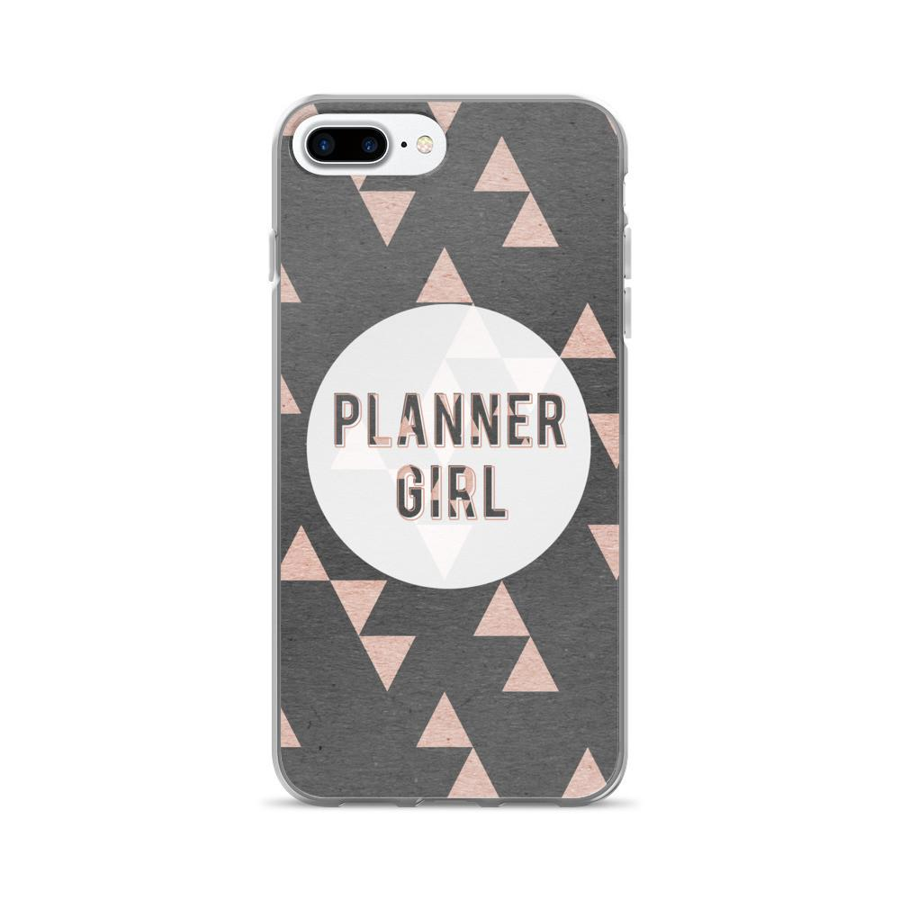 Rose Gold Triangle 'Planner Girl' iPhone 7/7 Plus Case - That Moxie Chick Studio
