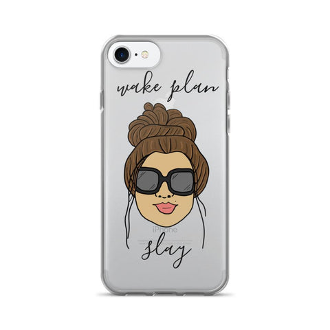 'Foxy Moxie Chick' Style 1 / Wake Plan Slay / iPhone 7/7 Plus Case - That Moxie Chick Studio