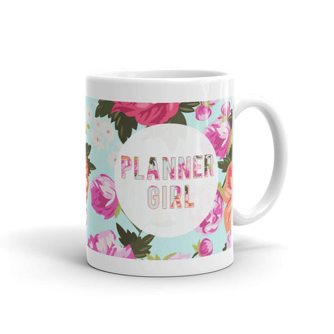 Floral 'Planner Girl' Mug - That Moxie Chick Studio