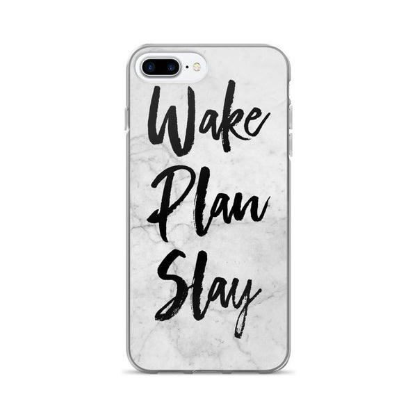 Wake / Plan / Slay 'Marble' iPhone 7/7 Plus Case - That Moxie Chick Studio