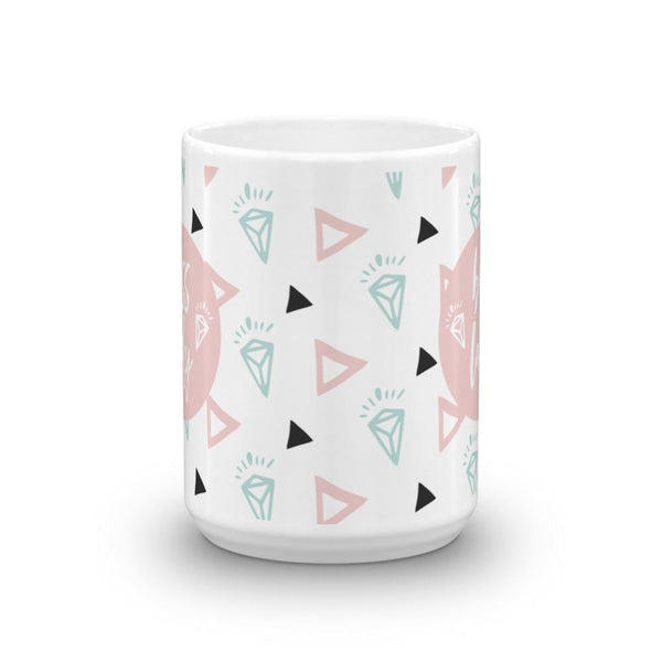 Boss Lady Pink / 'Diamond' Mug - That Moxie Chick Studio