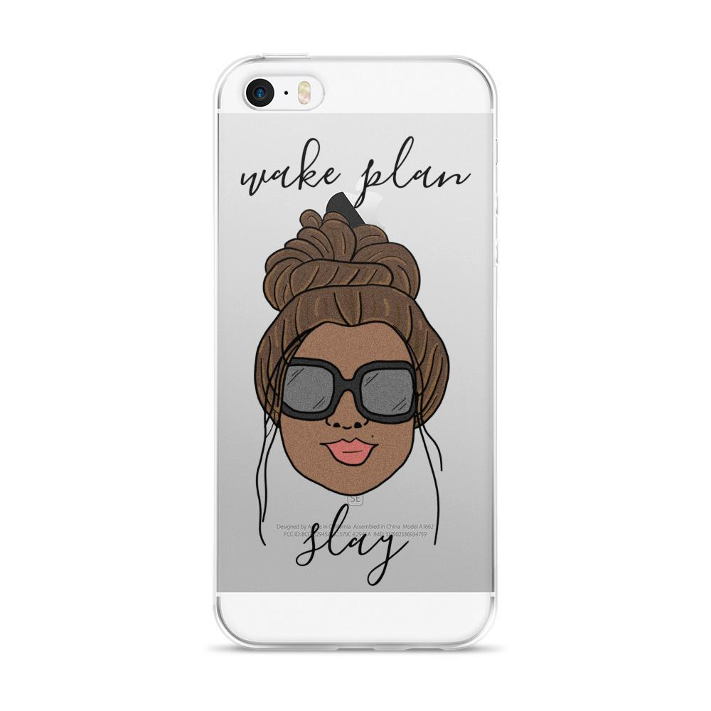 'Foxy Moxie Chick'/ Style 2 / Wake Plan Slay / iPhone case 5/5s/Se, 6/6s, 6/6s Plus Case - That Moxie Chick Studio