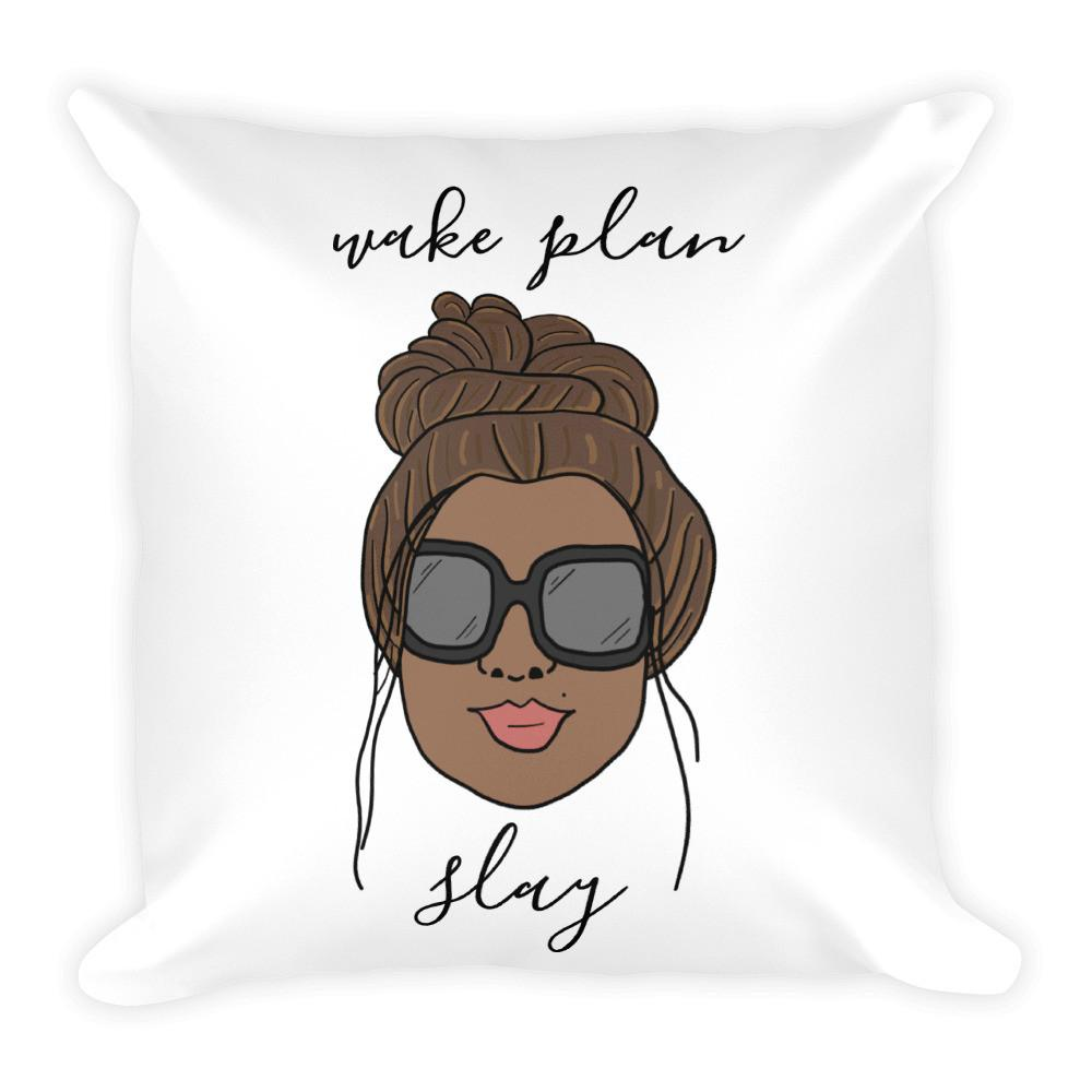 'Foxy Moxie Chick' Style 2 / Wake Plan Slay / Square Pillow - That Moxie Chick Studio