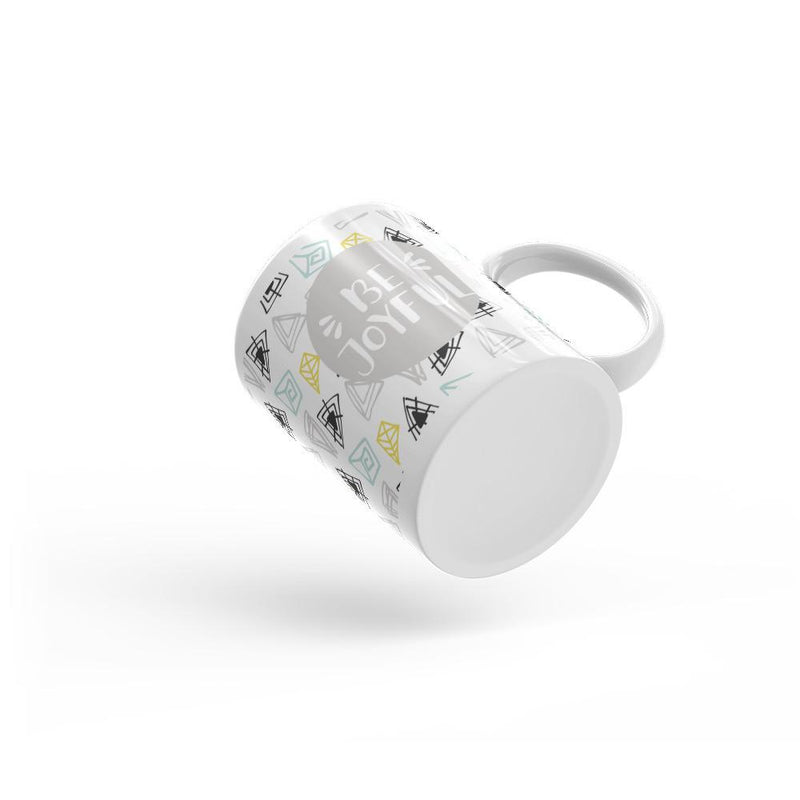 Be Joyful 'Scribbles' Mug // Light Gray - That Moxie Chick Studio